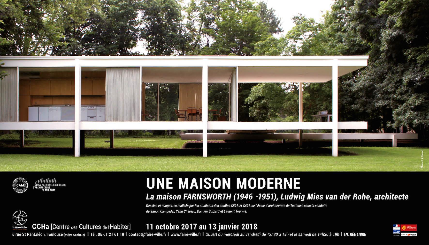 une maison moderne la maison farnsworth 1946 1951 ludwig mies van der rohe architecte. Black Bedroom Furniture Sets. Home Design Ideas