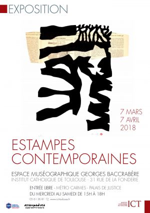 "Vernissage de l'exposition ""Estampes contemporaines"""