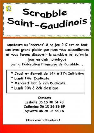 Scrabble Saint-Gaudinois
